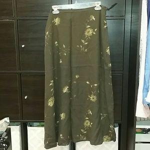 Jones NY silk A-LINE skirt worn once